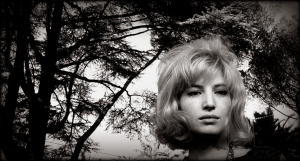 Monica Vitti sul set di L'Eclissi.