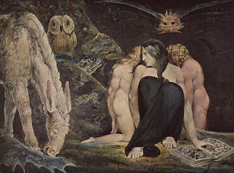 "William Blake, ""Ecate"", 1795, Londra, Tate Gallery"